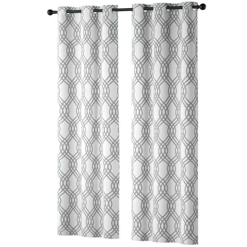 Geometric Blackout Thermal Grommet Curtain Panels Curtains In Geometric Print Textured Thermal Insulated Grommet Curtain Panels (View 21 of 45)