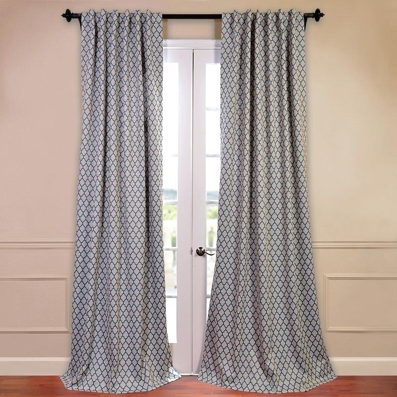 Geometric Curtain Panels Half Price Drapes Blackout Thermal In Thermal Rod Pocket Blackout Curtain Panel Pairs (#28 of 50)