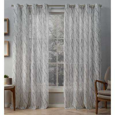 Geometric – Indoor – Thermal – Curtains & Drapes – Window Within Easton Thermal Woven Blackout Grommet Top Curtain Panel Pairs (#25 of 44)