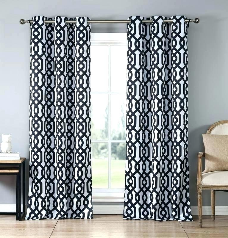 Geometric Print Curtains – Alexandraschoolofmotoring For Grey Printed Curtain Panels (View 17 of 48)