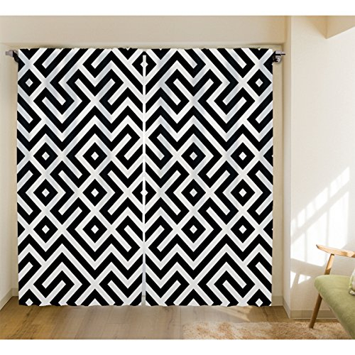 Geometric Print Nordic Style Curtains Room Darkening Curtains Linen Texture  Bedroom Drapes – Roslynwood 2 Panel Curtains Drapes For Living Room In Geometric Print Textured Thermal Insulated Grommet Curtain Panels (View 23 of 45)