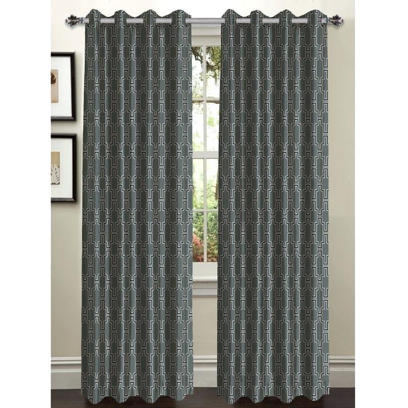 Geometric Sheer Curtains – Xluna (View 28 of 50)