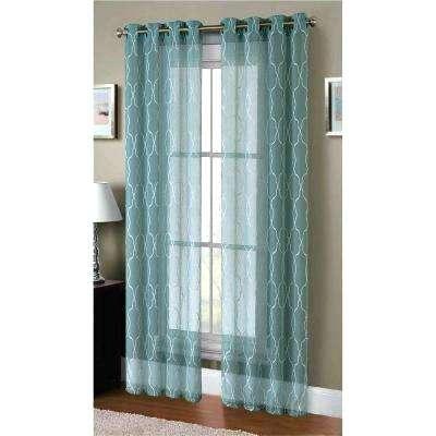 Geometric Sheer Curtains – Xluna (View 18 of 50)