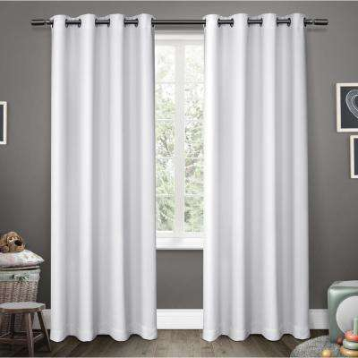 Geometric – Thermal – Curtains & Drapes – Window Treatments Within Easton Thermal Woven Blackout Grommet Top Curtain Panel Pairs (#26 of 44)