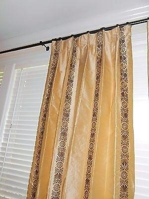 Glamorous Silk Drapes Draperies Ready Made Taffeta Curtains In Raw Silk Thermal Insulated Grommet Top Curtain Panel Pairs (#24 of 46)