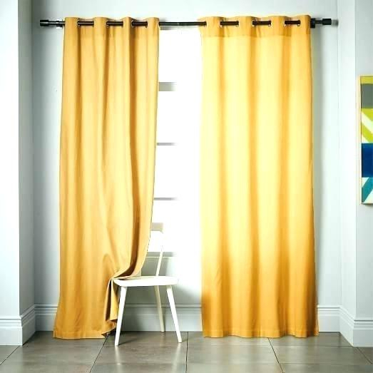 Gold Grommet Blackout Curtains – Renover Appartement For Easton Thermal Woven Blackout Grommet Top Curtain Panel Pairs (#27 of 44)