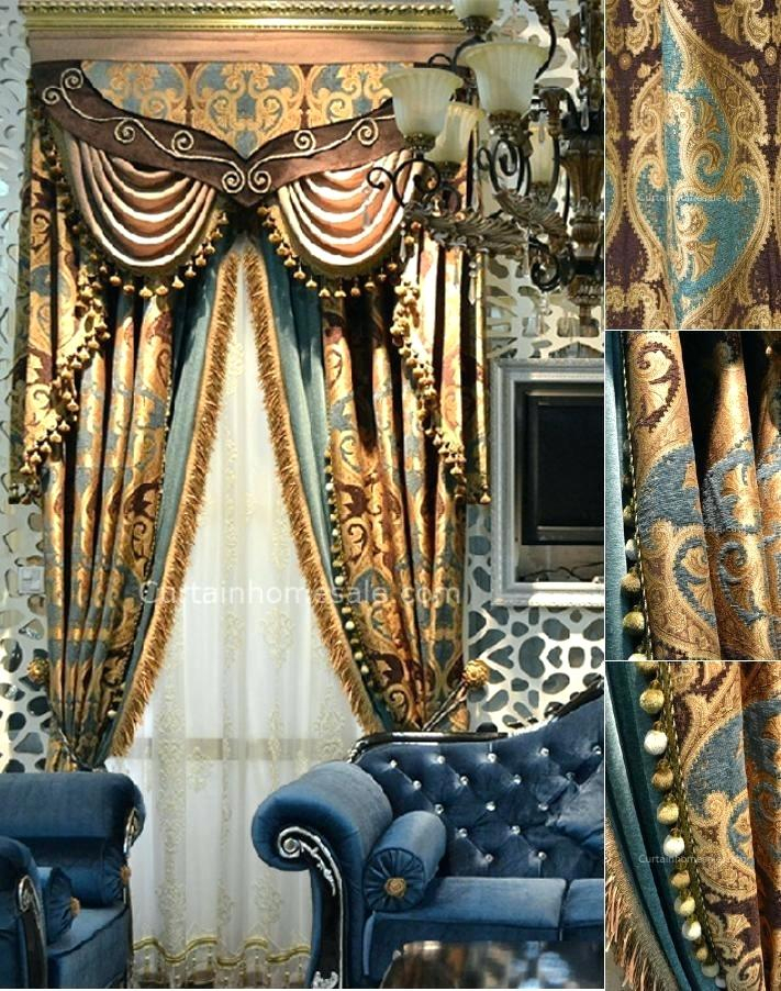 Gold Pattern Curtain – Gtres (#25 of 42)
