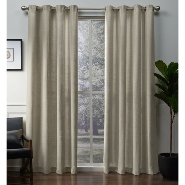 Gold Shimmer Sheer Curtains | Wayfair Within Kida Embroidered Sheer Curtain Panels (#20 of 50)