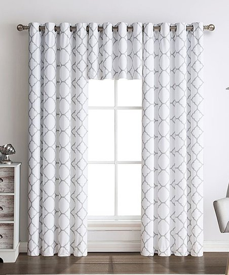Goodgram Gray Lattice Meridian Blackout Curtain Panel – Set Regarding Meridian Blackout Window Curtain Panels (#33 of 50)
