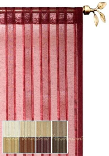 Gorgeous Maroon Sheer Curtains Designs With Vcny Infinity Throughout Infinity Sheer Rod Pocket Curtain Panels (#14 of 50)