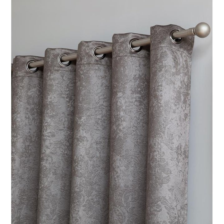 Gracewood Hollow Plakalo Embossed Thermal Weaved Blackout Grommet Drapery  Curtains Within Gracewood Hollow Tucakovic Energy Efficient Fabric Blackout Curtains (View 12 of 31)