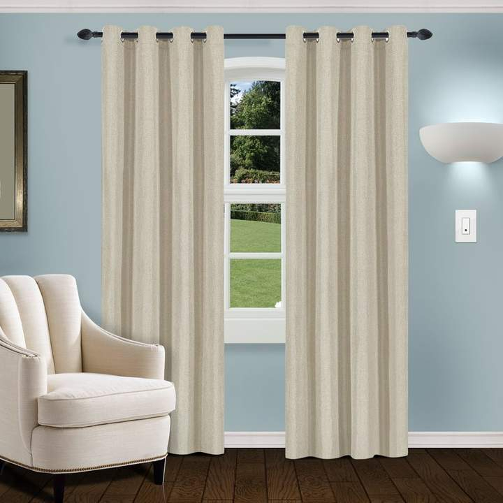 Gracie Oaks Lamkin Blackout Thermal Grommet Panel Pair In Solid Thermal Insulated Blackout Curtain Panel Pairs (View 32 of 50)