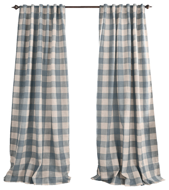 Popular Photo of Grainger Buffalo Check Blackout Window Curtains