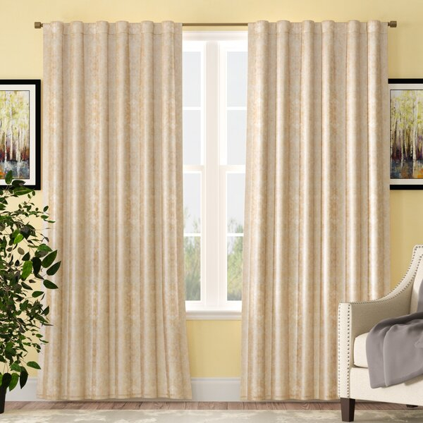 Grand Luxe Linen Curtain | Wayfair With Classic Hotel Quality Water Resistant Fabric Curtains Set With Tiebacks (#18 of 50)