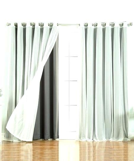 Gray Blackout Curtain Panels | Flisol Home In Star Punch Tulle Overlay Blackout Curtain Panel Pairs (#30 of 50)