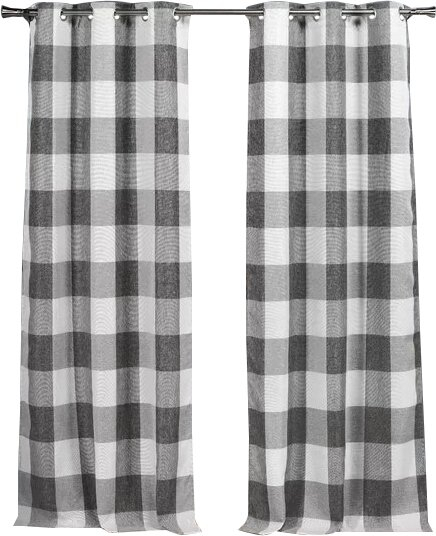 Gray Buffalo Check Curtains Intended For Grainger Buffalo Check Blackout Window Curtains (View 21 of 50)