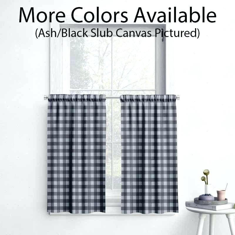 Gray Buffalo Check Curtains With Grainger Buffalo Check Blackout Window Curtains (View 22 of 50)