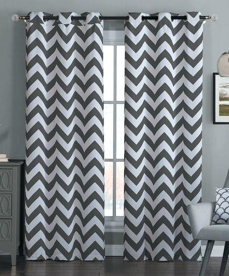 Gray Chevron Blackout Curtain Panel Set Of Two Curtains Teal In Chevron Blackout Grommet Curtain Panels (View 21 of 50)