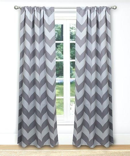 Gray Chevron Blackout Curtains – Aibeconomicresearch Within Chevron Blackout Grommet Curtain Panels (View 22 of 50)