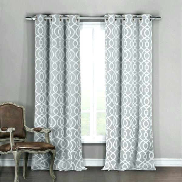 Gray Chevron Blackout Curtains – Kindershow Intended For Chevron Blackout Grommet Curtain Panels (View 24 of 50)