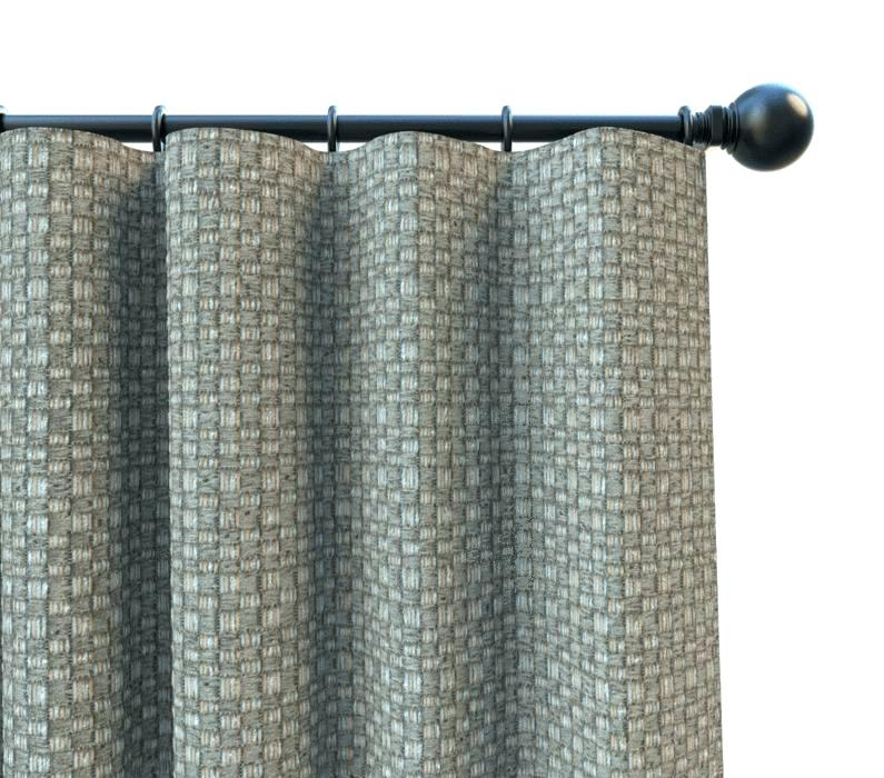 Gray Curtain Panels Set Of 2 Blackout Curtains Jacquard In Insulated Cotton Curtain Panel Pairs (#20 of 50)