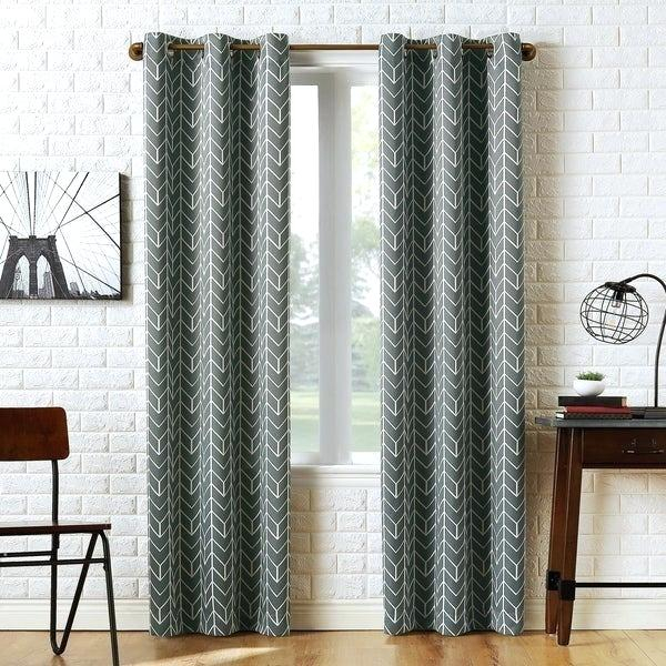 Gray Grommet Curtains – Sparkchess (#11 of 50)