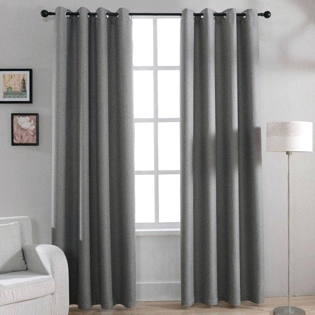 Gray Grommet Curtains – Sparkchess (#15 of 50)