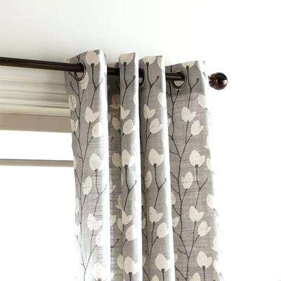 Gray Grommet Curtains – Sparkchess (#18 of 50)