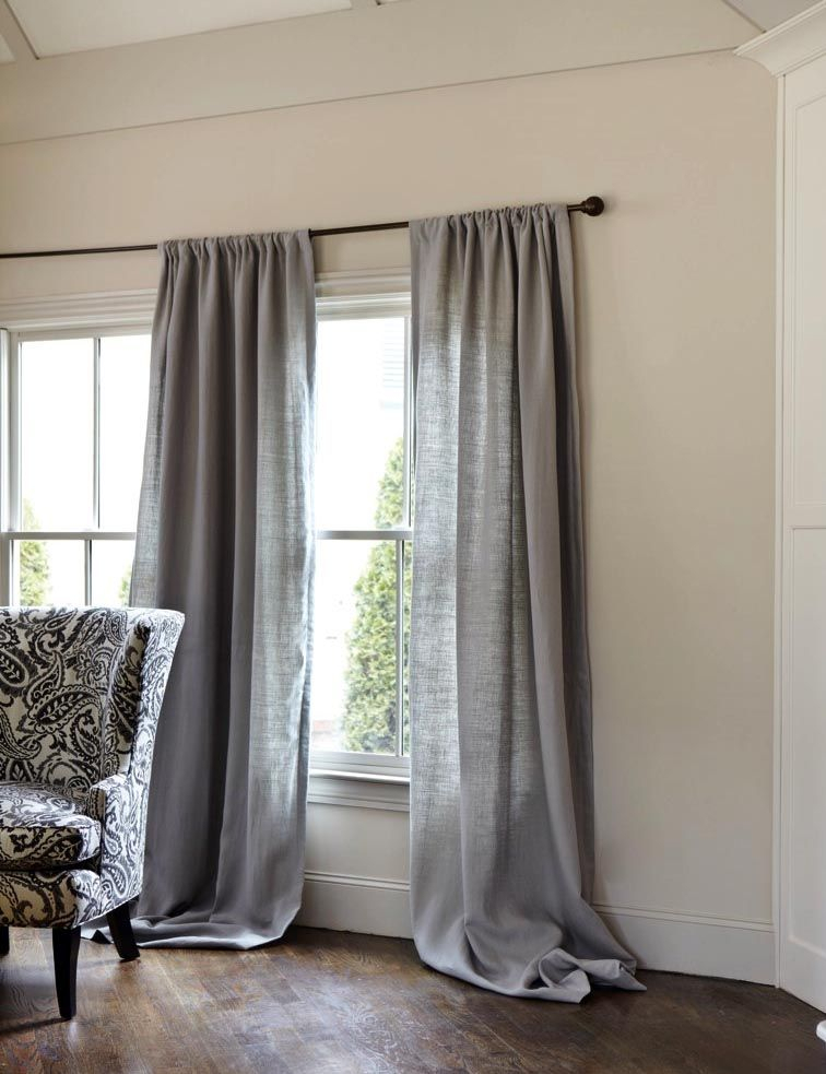 Gray Linen Curtains | Grey Linen Curtains, Curtains For Grey In French Linen Lined Curtain Panels (#20 of 50)