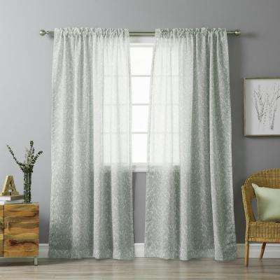 Gray – Machine Washable – Rod Pocket – Curtains & Drapes Within Grey Printed Curtain Panels (View 18 of 48)