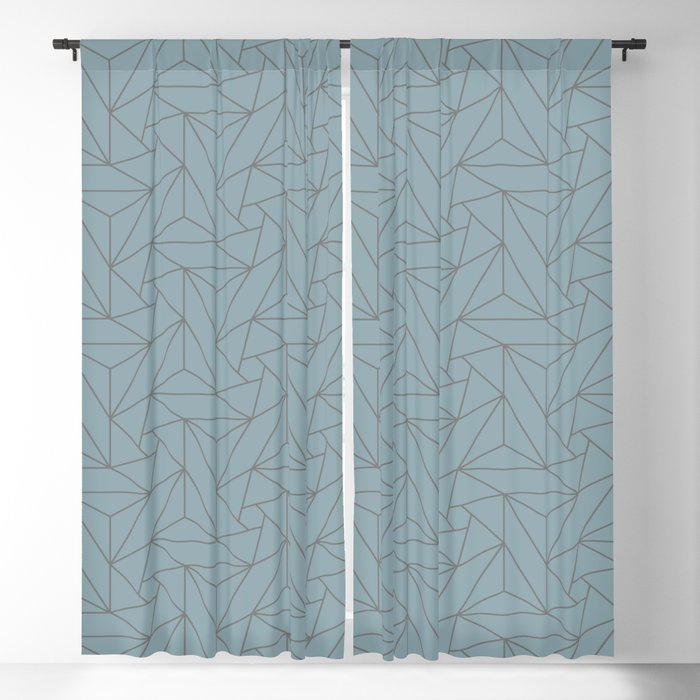 Gray & Pastel Blue Abstract Triangle Geometric Mosaic Shape Pattern Pairs  To 2020 Color Of The Year Blackout Curtainpipafineart Intended For Abstract Blackout Curtain Panel Pairs (View 23 of 46)