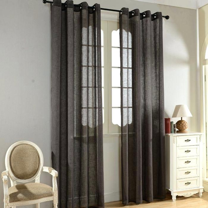Gray Semi Sheer Curtains – Garettgroves Within Ombre Faux Linen Semi Sheer Curtains (#20 of 50)