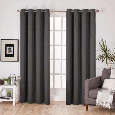 Gray – Set – Charcoal – Curtains & Drapes – Window For Oxford Sateen Woven Blackout Grommet Top Curtain Panel Pairs (View 15 of 44)