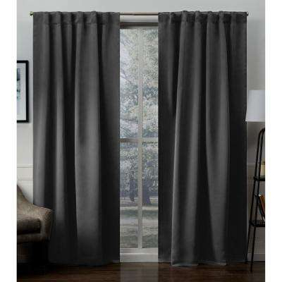 Gray – Set – Charcoal – Curtains & Drapes – Window With Regard To Oxford Sateen Woven Blackout Grommet Top Curtain Panel Pairs (View 16 of 44)
