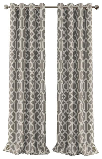 "Grayson Blackout Grommet Linen Window Curtain, Gray, 52""x84"" With Regard To Kaiden Geometric Room Darkening Window Curtains (View 19 of 39)"