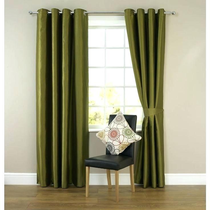 Green Drapes Olive Green Drapes Velvet S Olive Green Drapes Intended For Heritage Plush Velvet Single Curtain Panels (View 22 of 50)