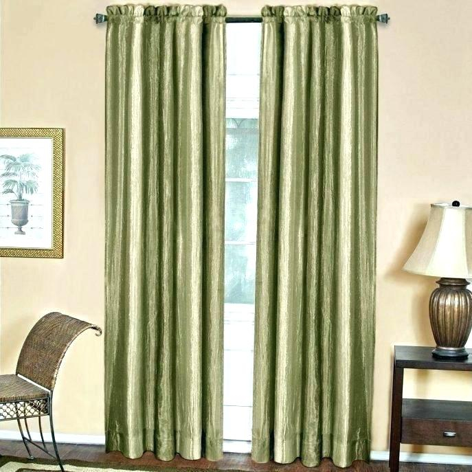 Green Drapes Peat Green Heritage Plush Velvet Curtain In W X Pertaining To Heritage Plush Velvet Curtains (View 21 of 50)