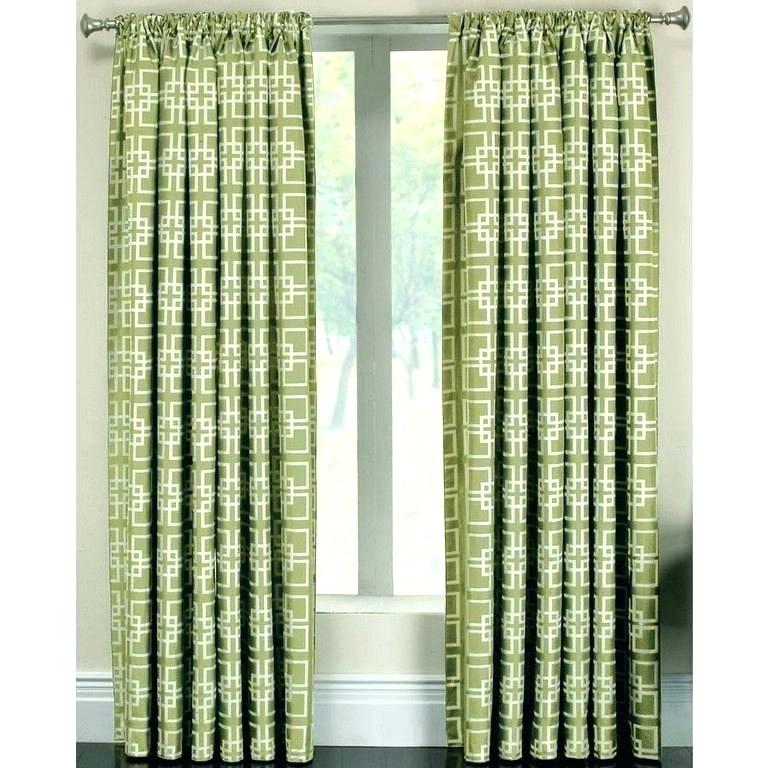 Green Trellis Curtain Panels – Garettgroves With Overseas Leaf Swirl Embroidered Curtain Panel Pairs (View 44 of 50)