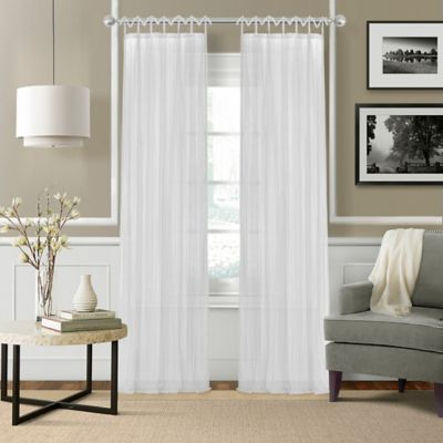 "Greta Crushed Sheer 108"" Tie Top Window Curtain Panel In With Elrene Jolie Tie Top Curtain Panels (#14 of 35)"