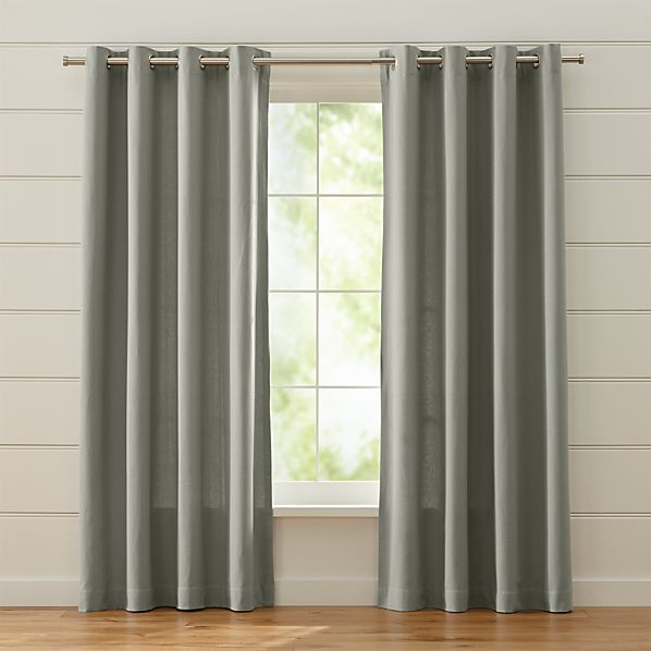 Grey Curtains | Thehauntmusic Regarding Kaylee Solid Crushed Sheer Window Curtain Pairs (#14 of 40)