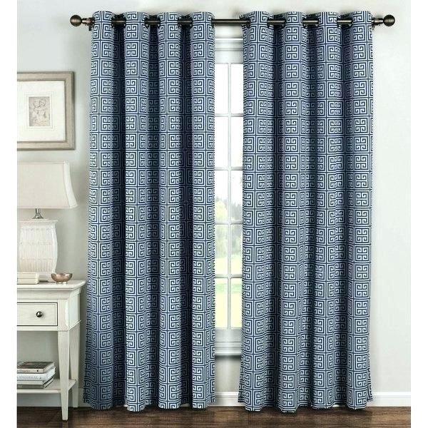 Grey Grommet Curtains Home Oxford Sateen Woven Blackout Top Intended For Oxford Sateen Woven Blackout Grommet Top Curtain Panel Pairs (View 18 of 44)