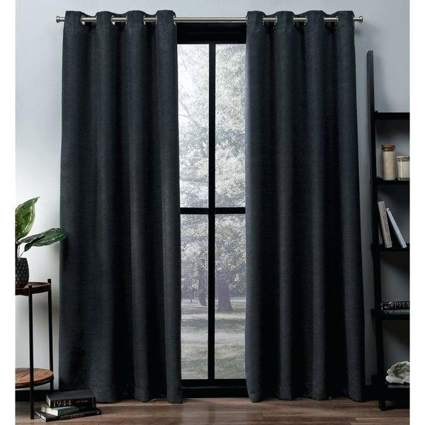 Grey Grommet Curtains Home Oxford Sateen Woven Blackout Top With Woven Blackout Curtain Panel Pairs With Grommet Top (View 5 of 42)