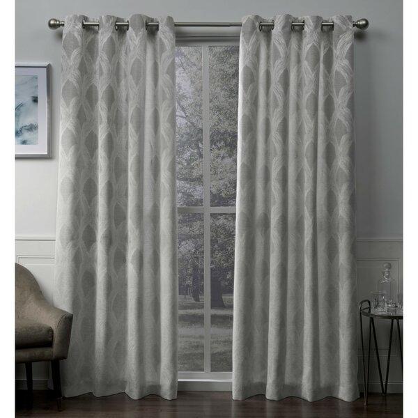 Grey Jacquard Curtains   Wayfair (View 25 of 37)