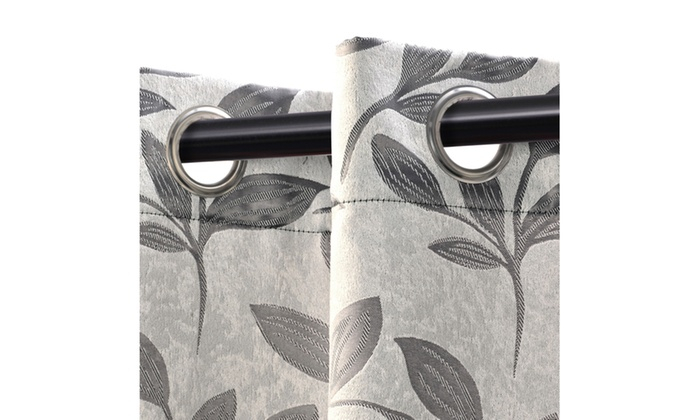 Popular Photo of Superior Leaves Insulated Thermal Blackout Grommet Curtain Panel Pairs