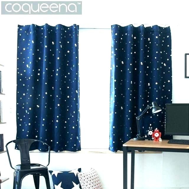 Grey Star Blackout Curtains – Remontite Within Thermaback Blackout Window Curtains (#29 of 36)