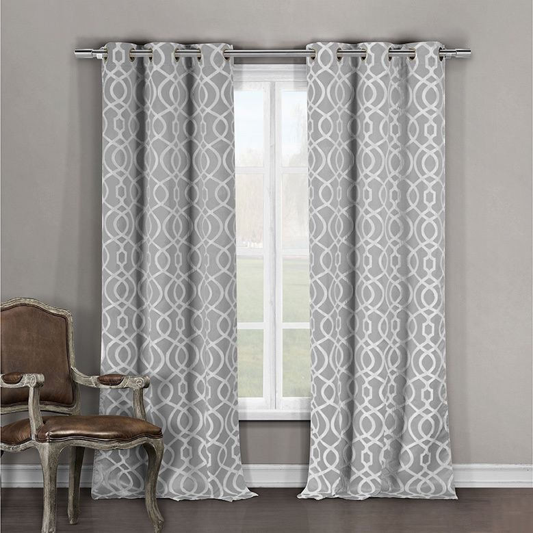 Grey,84 Inches,abstract,damask,floral,geometric,blackout With Abstract Blackout Curtain Panel Pairs (View 24 of 46)