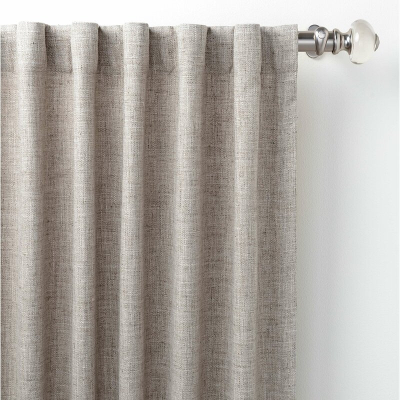 Greylock Brick Solid Color Rod Pocket Single Curtain Panel In Single Curtain Panels (View 9 of 36)