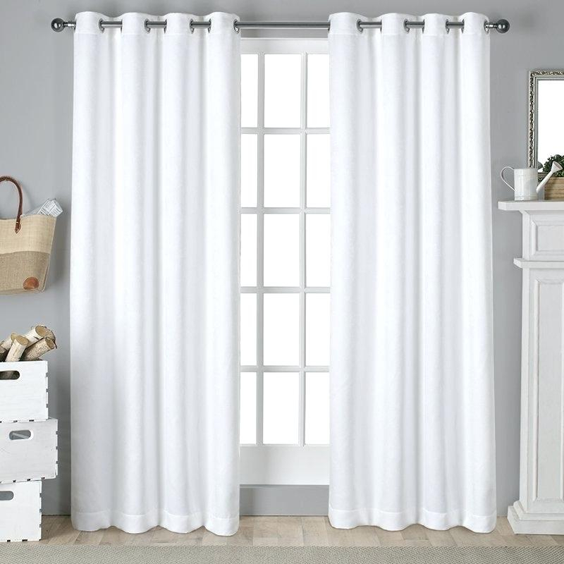 Grommet Curtain Panels – Socialprotectionbd With Superior Leaves Insulated Thermal Blackout Grommet Curtain Panel Pairs (#23 of 50)
