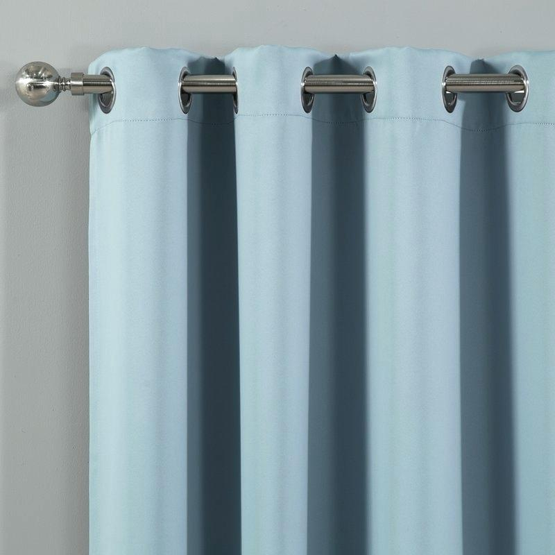 Grommet Curtains Blackout Noise Reducing Solid Ring Top For Solid Grommet Top Curtain Panel Pairs (View 35 of 35)