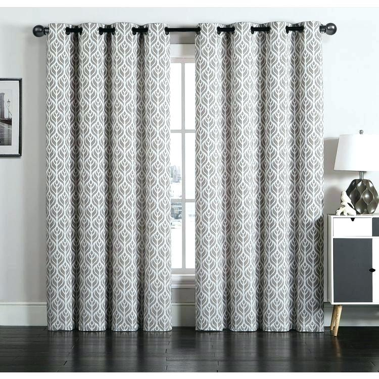 Grommet Curtains Inch White Curtain Panels Aurora Home Regarding Thermal Rod Pocket Blackout Curtain Panel Pairs (#30 of 50)